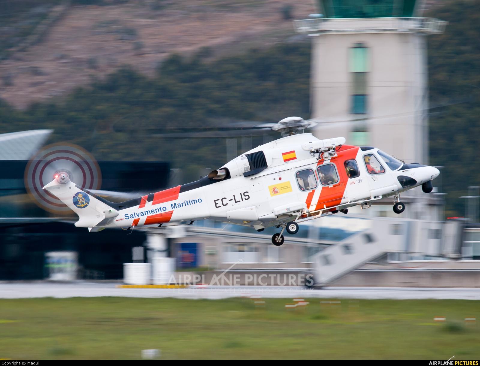 Spain - Coast Guard EC-LIS aircraft at La Coruña