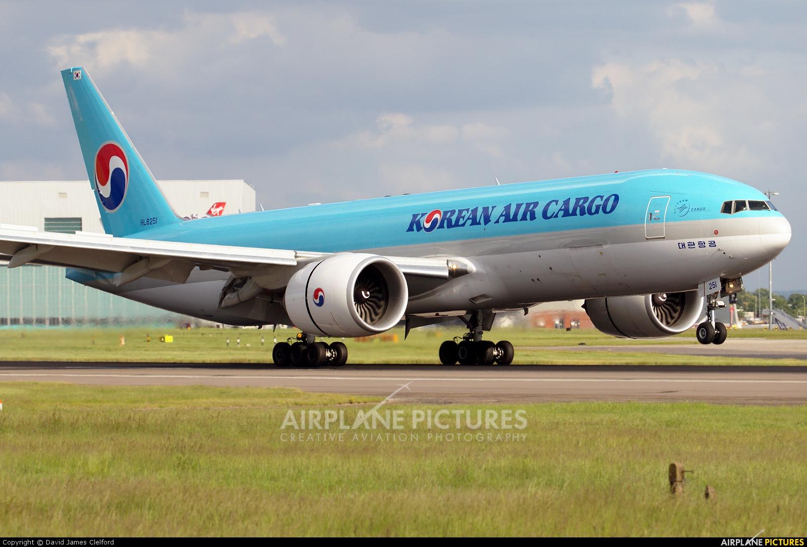 Korean Air Cargo HL8251 aircraft at London - Heathrow