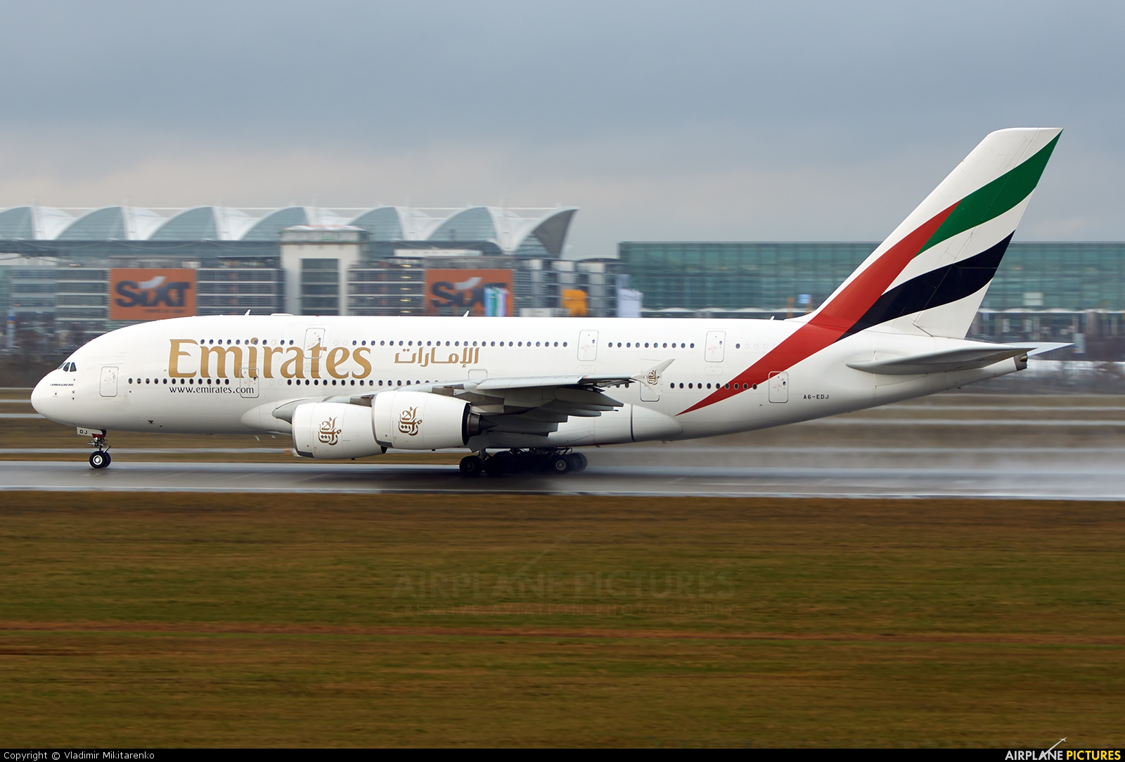 Emirates Airlines A6-EDJ aircraft at New York - John F. Kennedy Intl