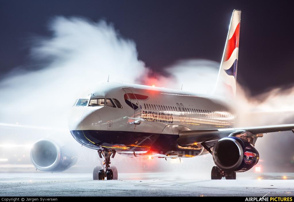 British Airways G-EUYL aircraft at Oslo - Gardermoen