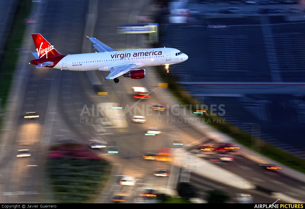 Virgin America N838VA aircraft at Los Angeles Intl