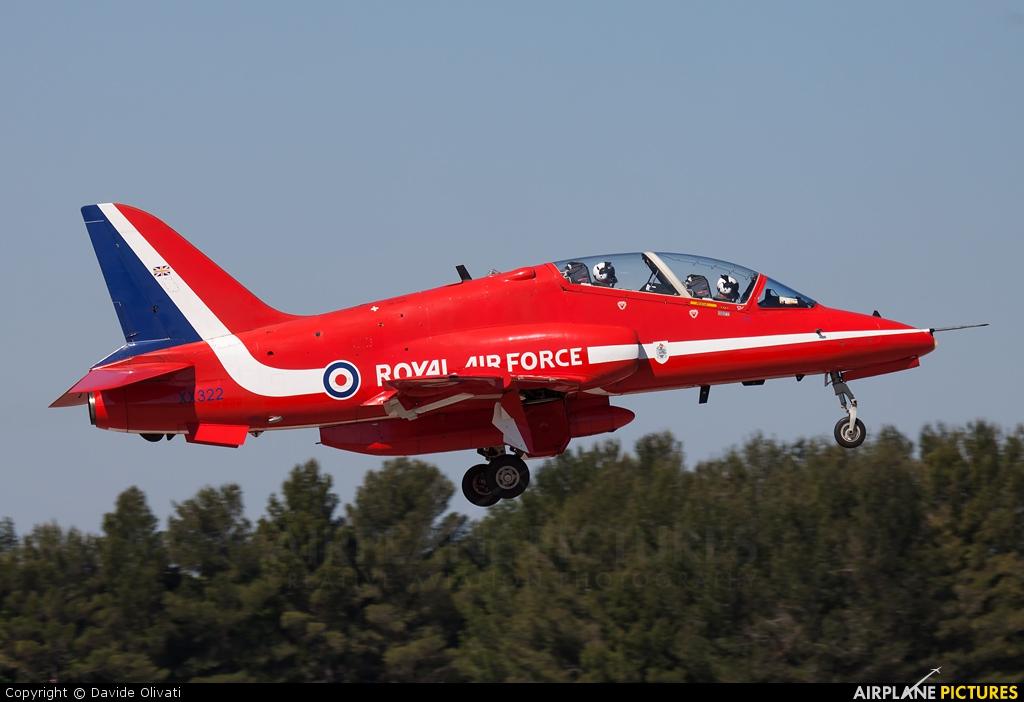 "Royal Air Force ""Red Arrows"" XX322 aircraft at Salon-de-Provence"