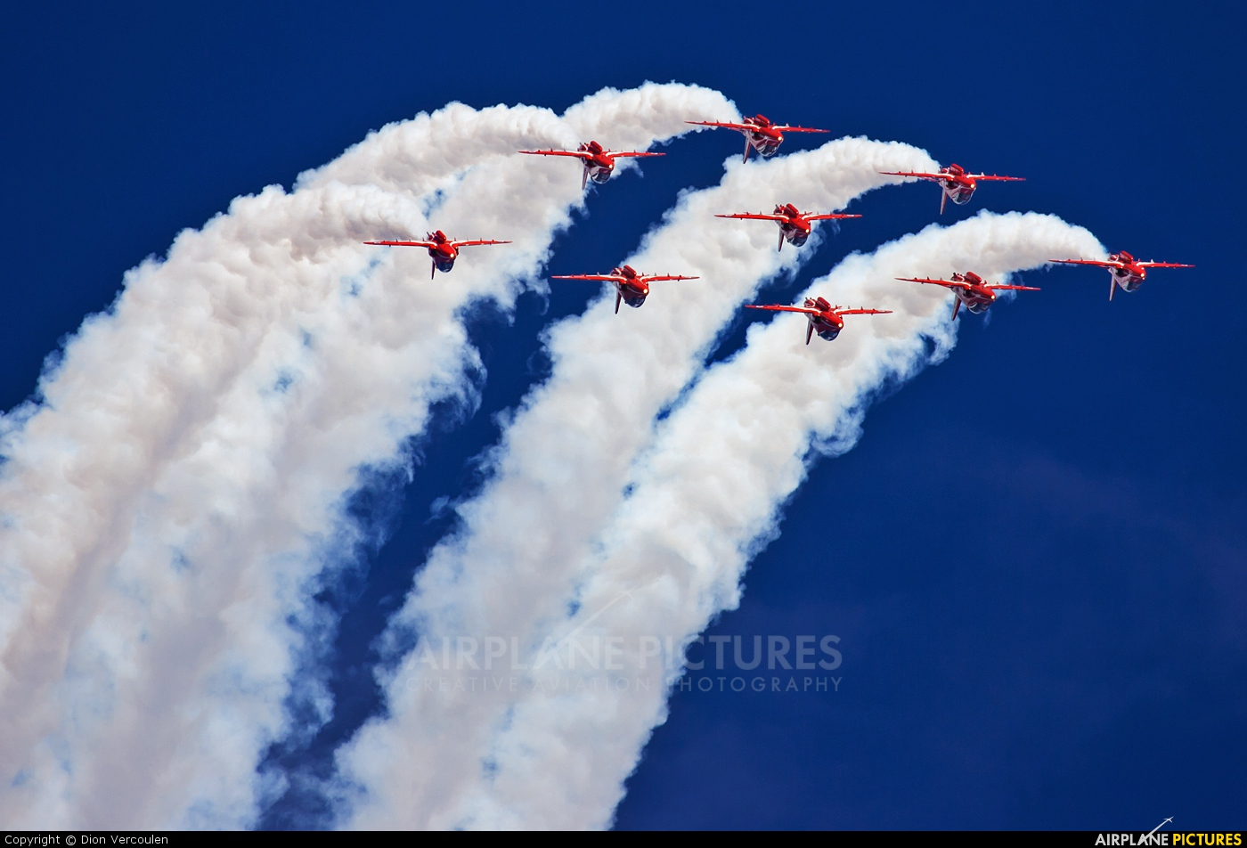 "Royal Air Force ""Red Arrows"" XX322 aircraft at Uden - Volkel"