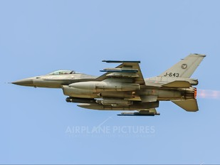 J-643 - Netherlands - Air Force General Dynamics F-16A Fighting Falcon