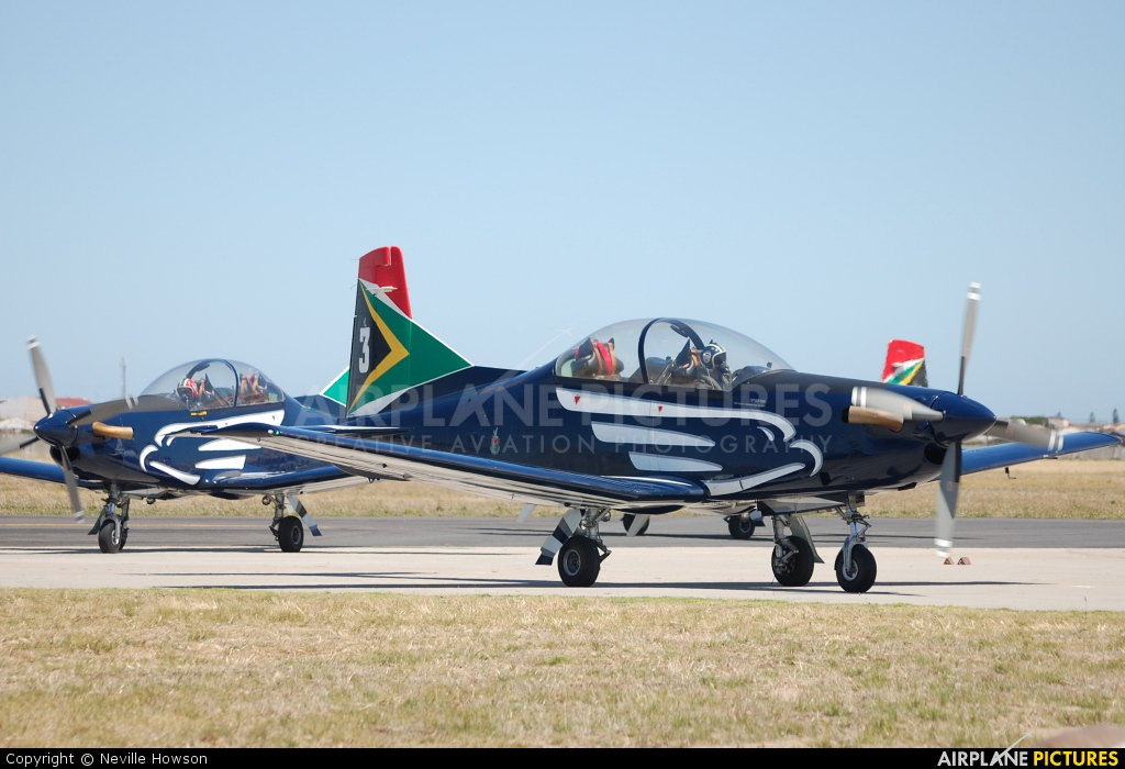 South Africa - Air Force: Silver Falcons 2018 aircraft at Ysterplaat - Cape Town