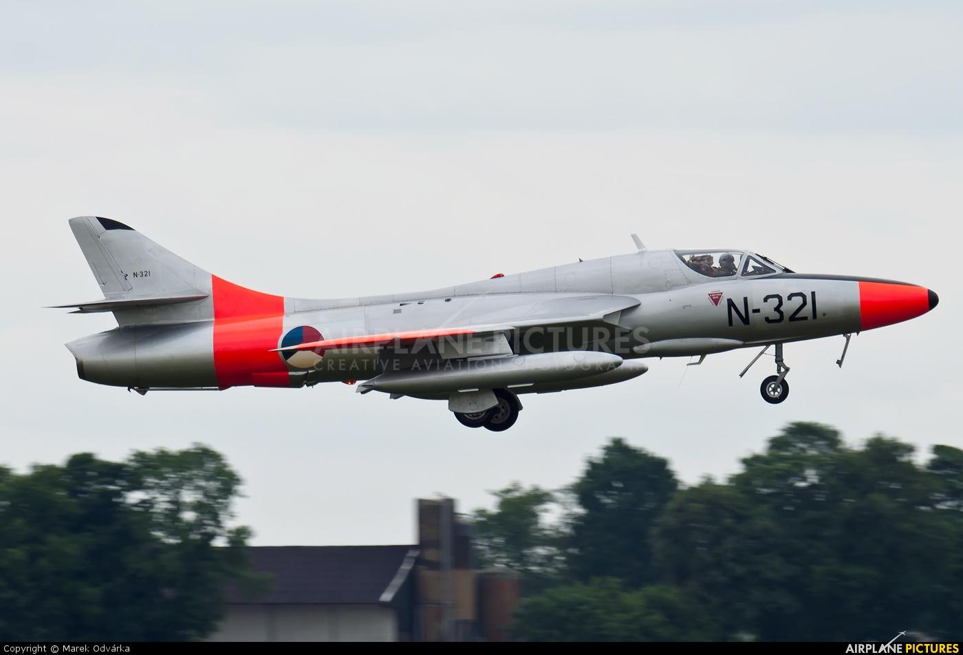 Dutch Hawker Hunter Foundation G-BWGL aircraft at Uden - Volkel