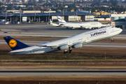 Lufthansa operated Boeing 747-8 from Tel Aviv title=