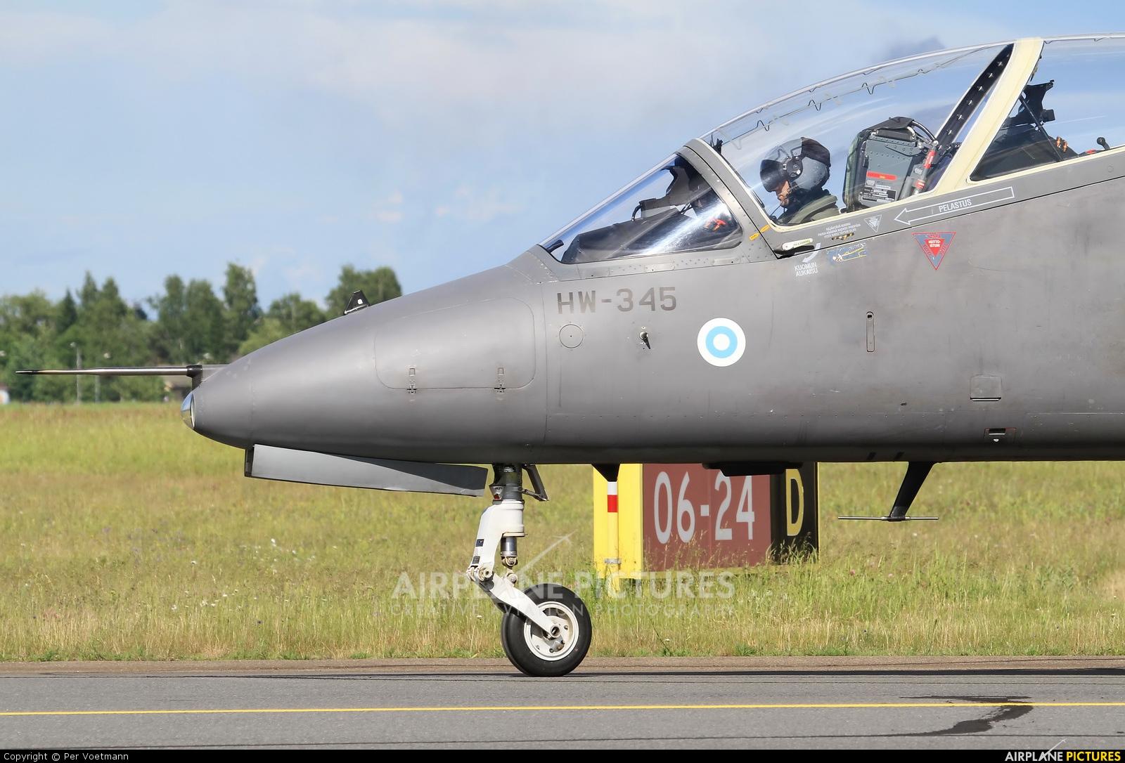 Finland - Air Force: Midnight Hawks HW-345 aircraft at Lappeenranta