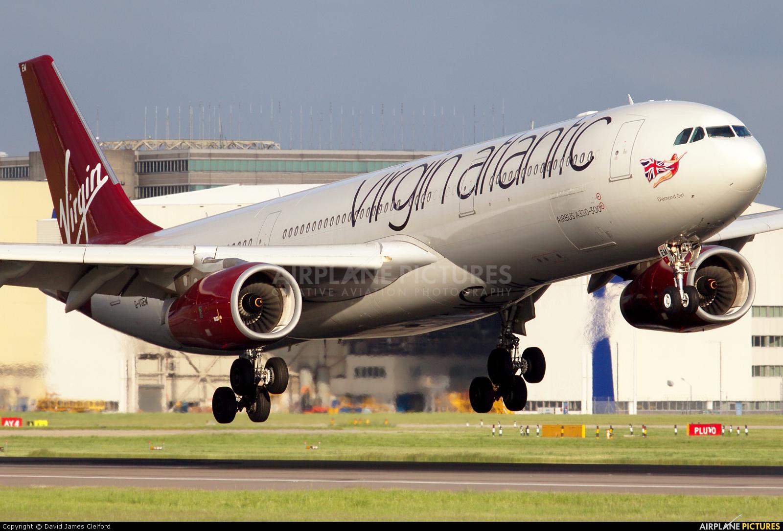 Virgin Atlantic G-VGEM aircraft at London - Heathrow