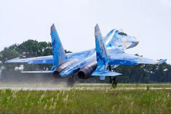 73 BLUE - Ukraine - Air Force Sukhoi Su-27UB