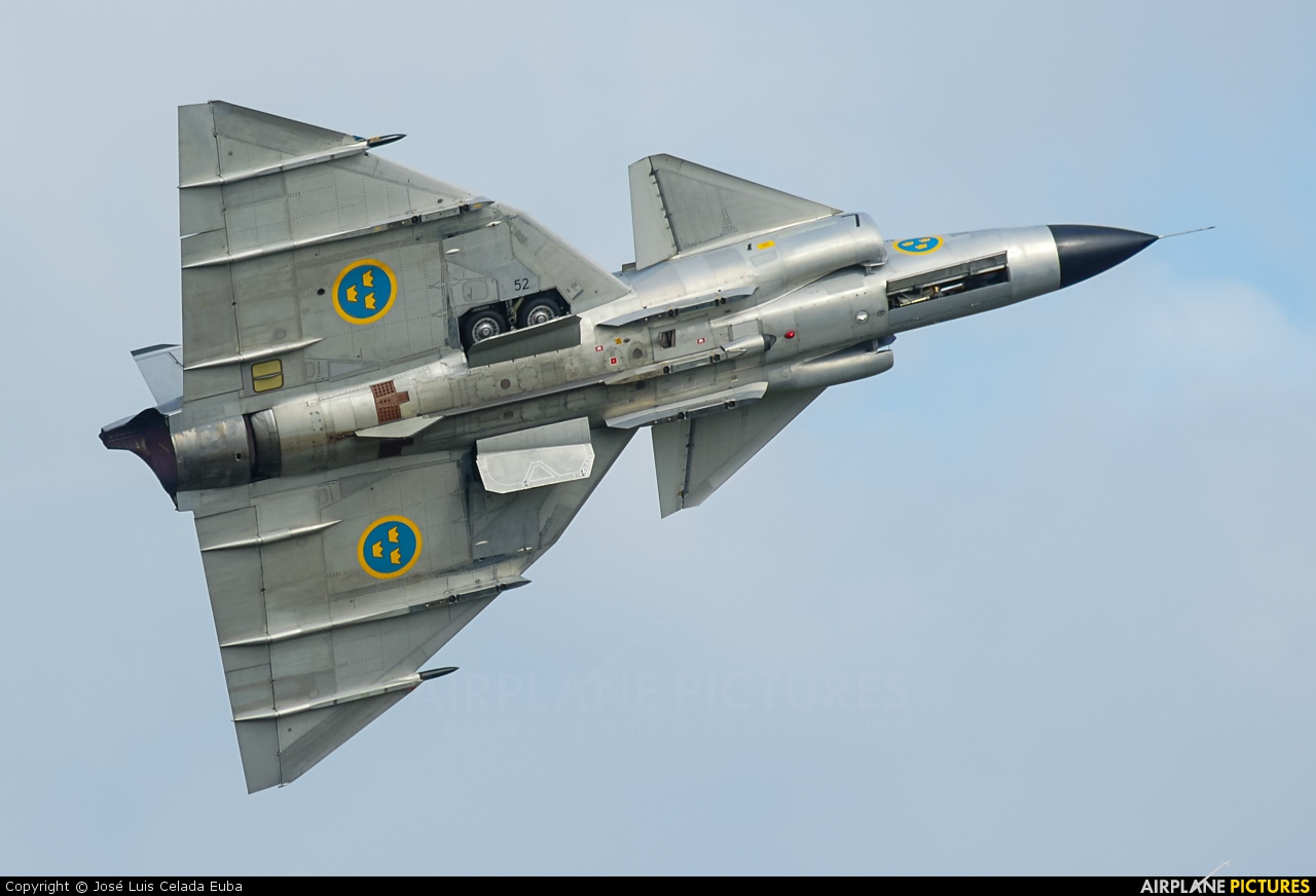 SE DXN Swedish Air Force Historic Flight SAAB AJS 37 Viggen at Uden Volkel Photo ID 298311