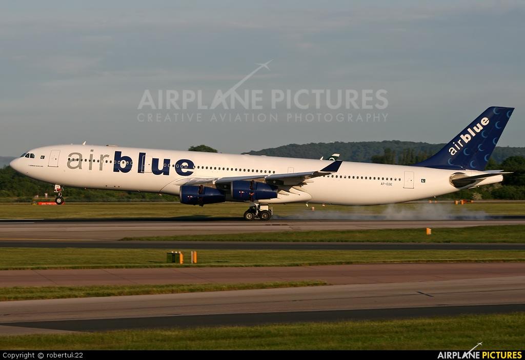 Air Blue AP-EDE aircraft at Manchester