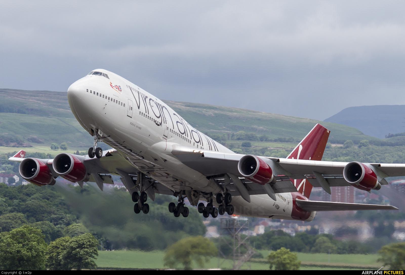 Virgin Atlantic G-VROM aircraft at Glasgow