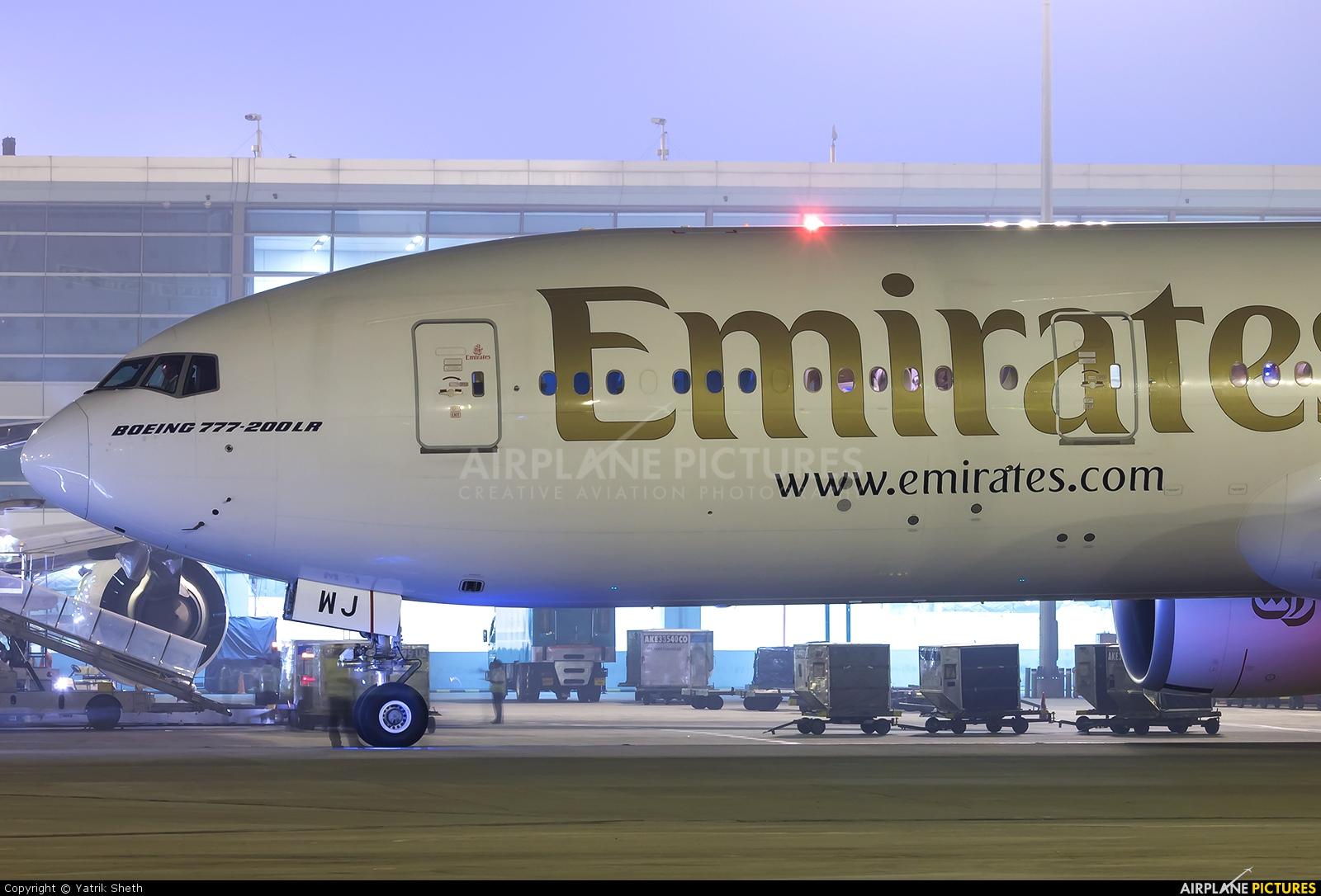 Emirates Airlines A6-EWJ aircraft at Delhi - Indira Gandhi Intl