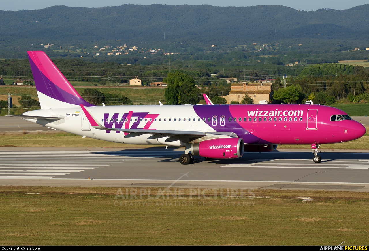 Wizz Air UR-WUC aircraft at Girona - Costa Brava
