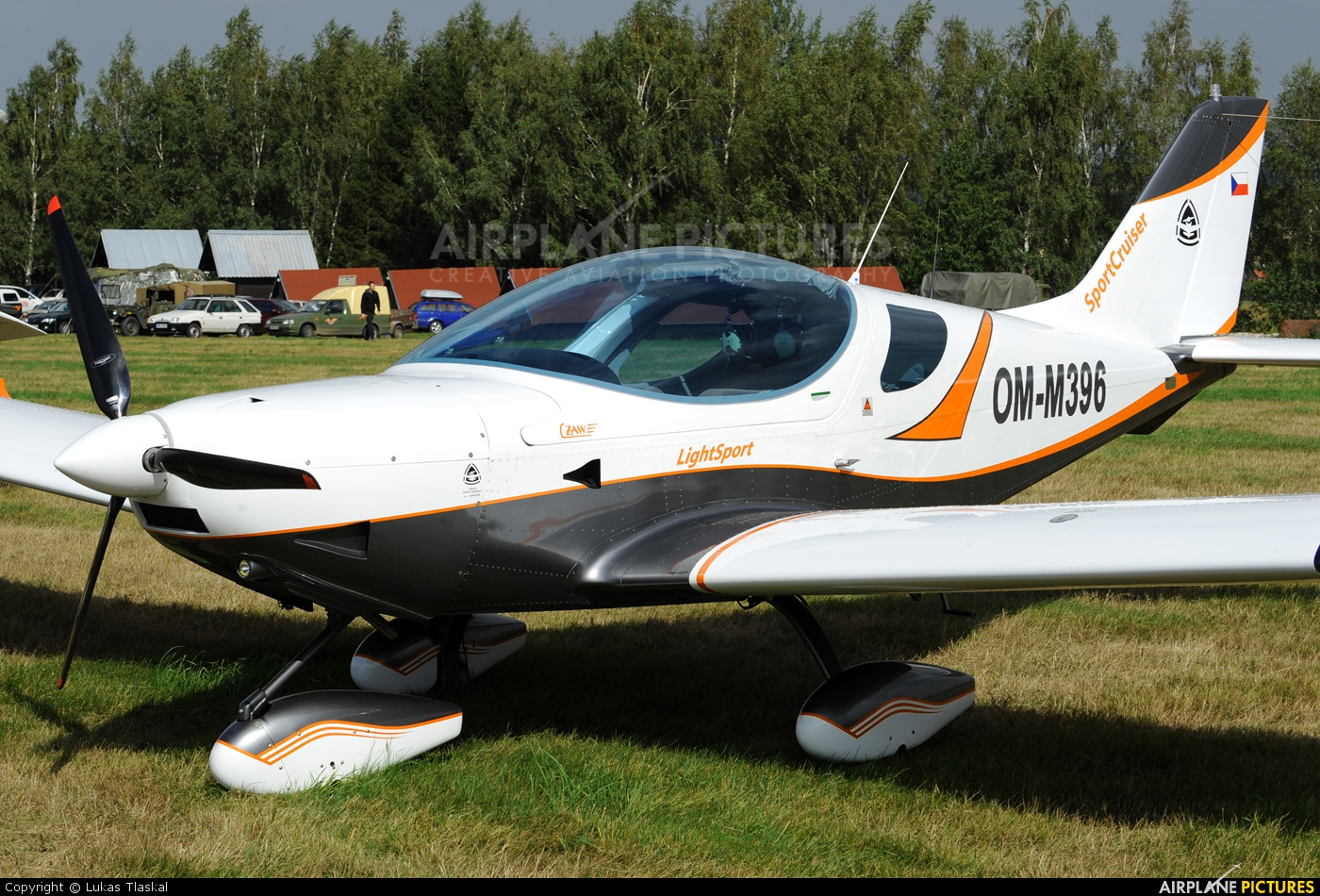 Private OM-M396 aircraft at Skuteč
