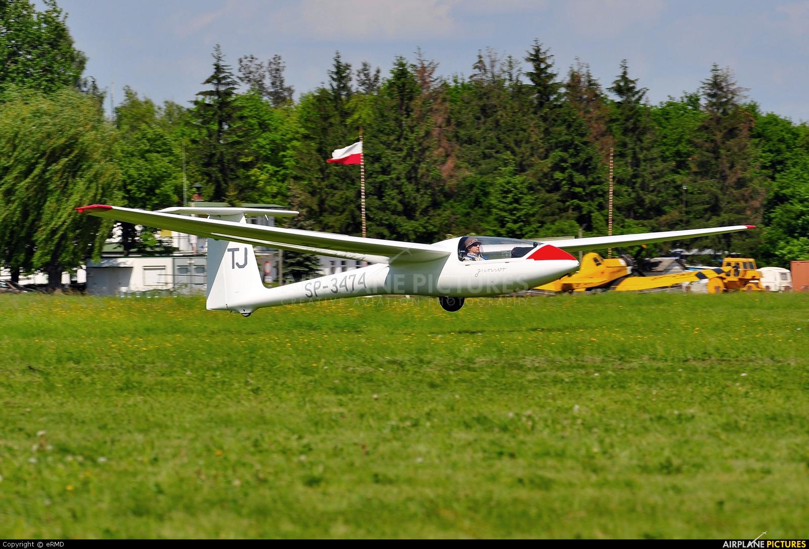 Aeroklub Radomski SP-3474 aircraft at Radom - Piastów