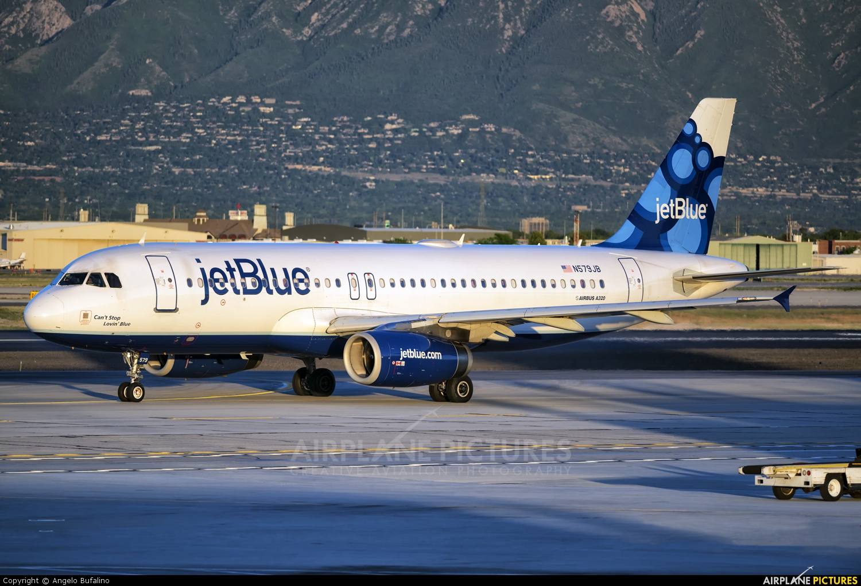 JetBlue Airways N579JB aircraft at Salt Lake City