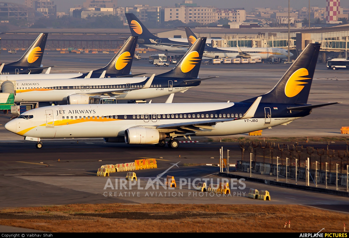 Jet Airways VT-JBG aircraft at Mumbai - Chhatrapati Shivaji Intl