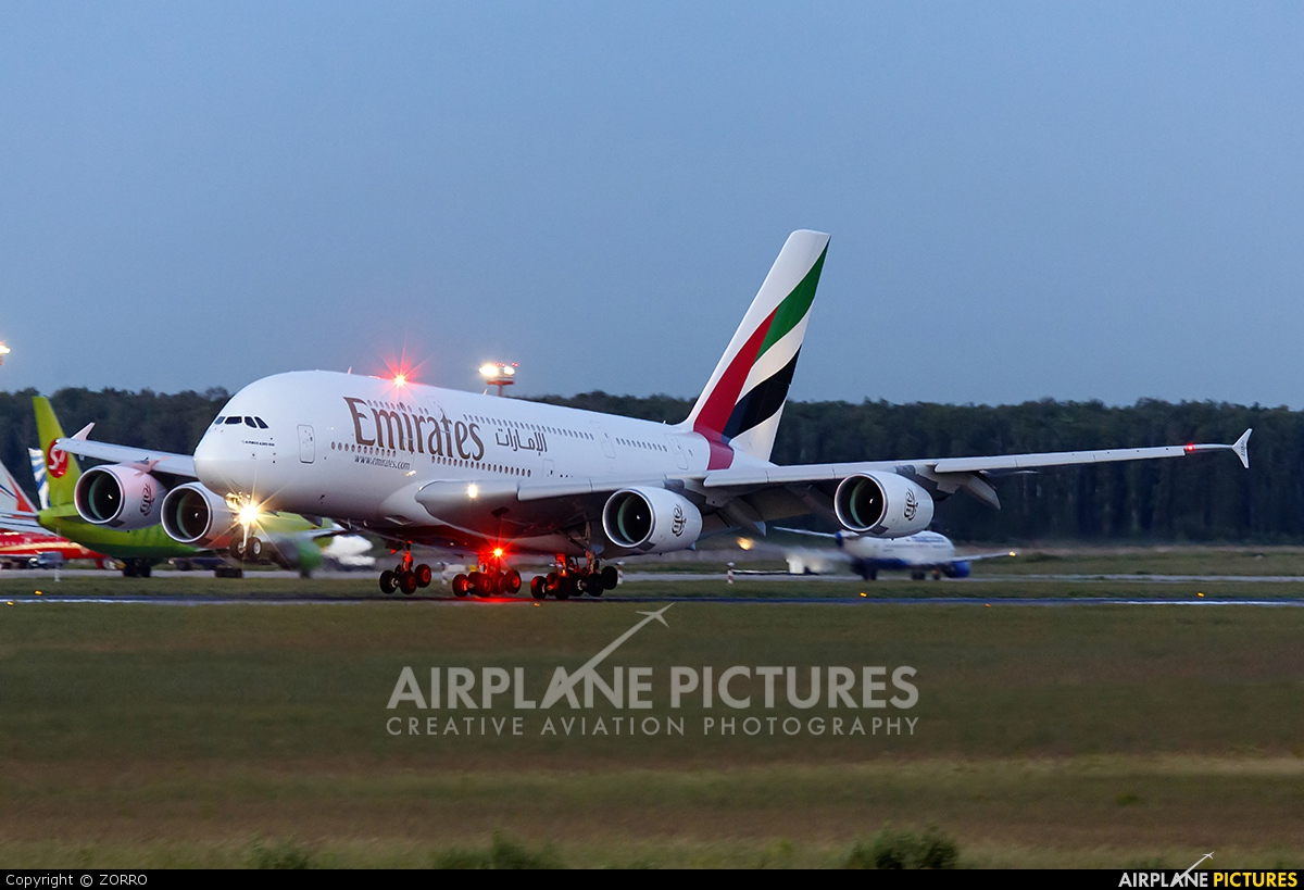 Emirates Airlines A6-EEG aircraft at Moscow - Domodedovo