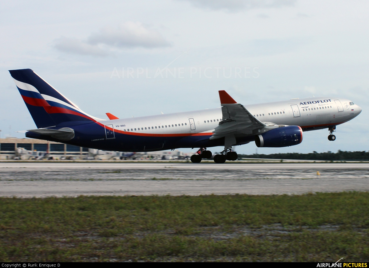 Aeroflot VQ-BBG aircraft at Cancun Intl