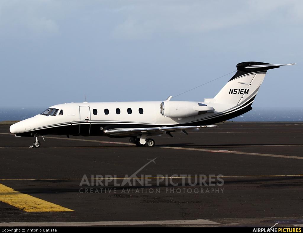 Private N51EM aircraft at Azores - Santa Maria