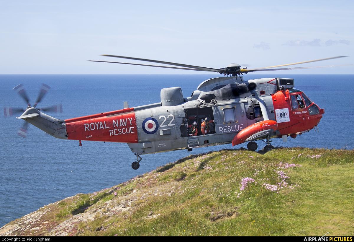 Royal Navy ZA167 aircraft at Off Airport - England