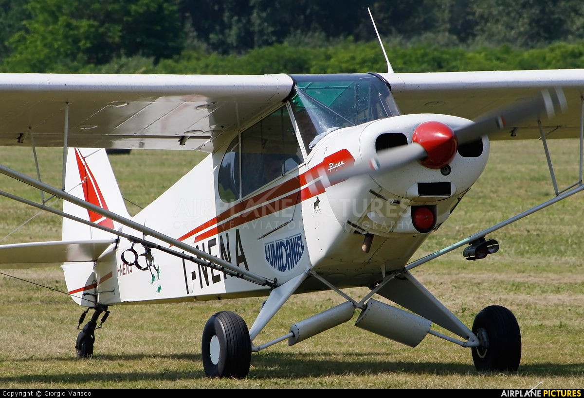 Private I-NENA aircraft at Nervesa della Battaglia