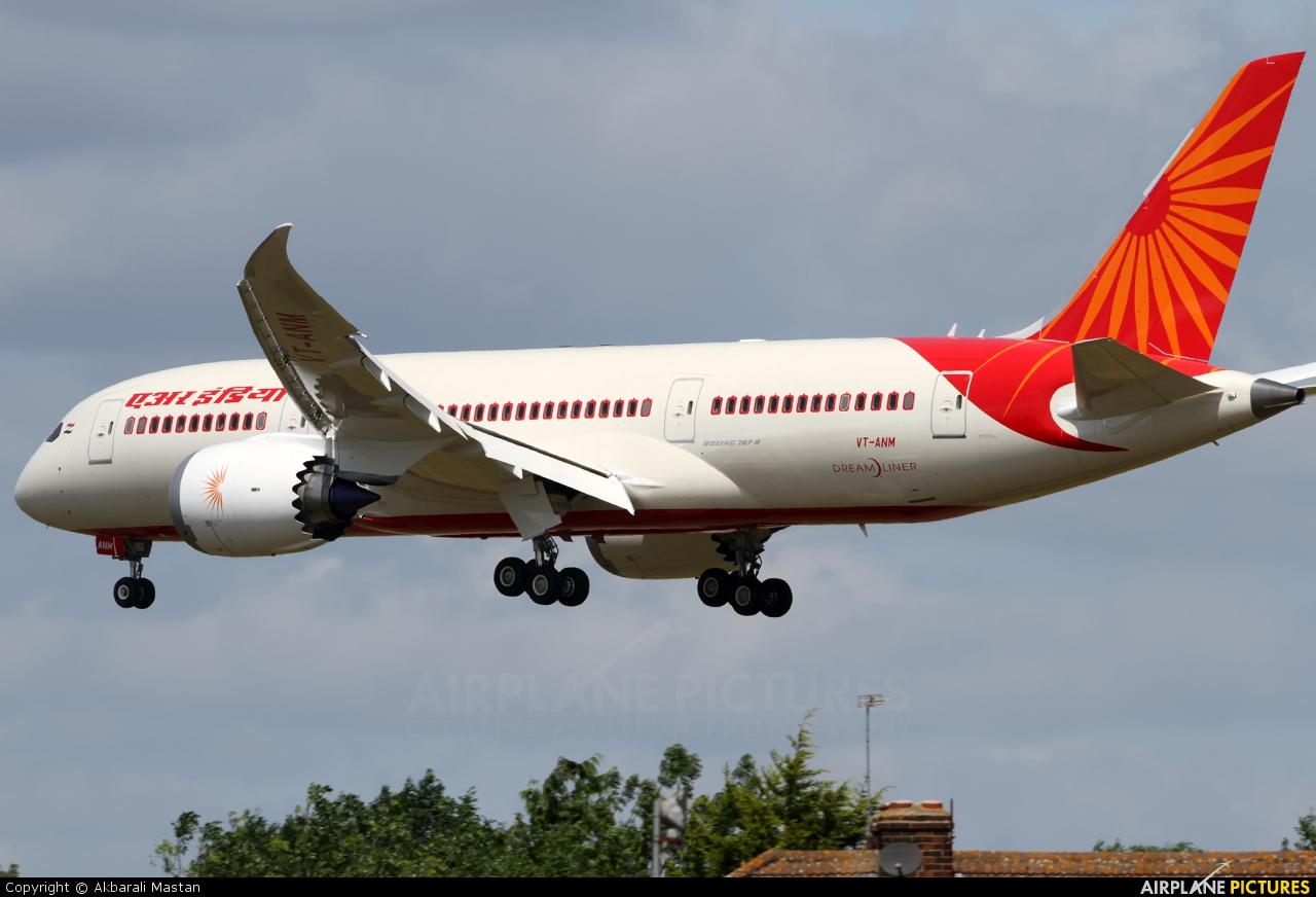 Air India VT-ANM aircraft at London - Heathrow