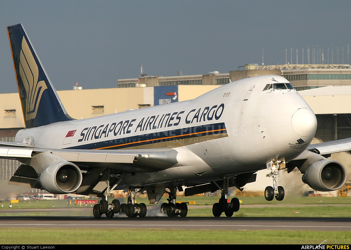 Singapore Airlines Cargo 9V-SFM aircraft at London - Heathrow