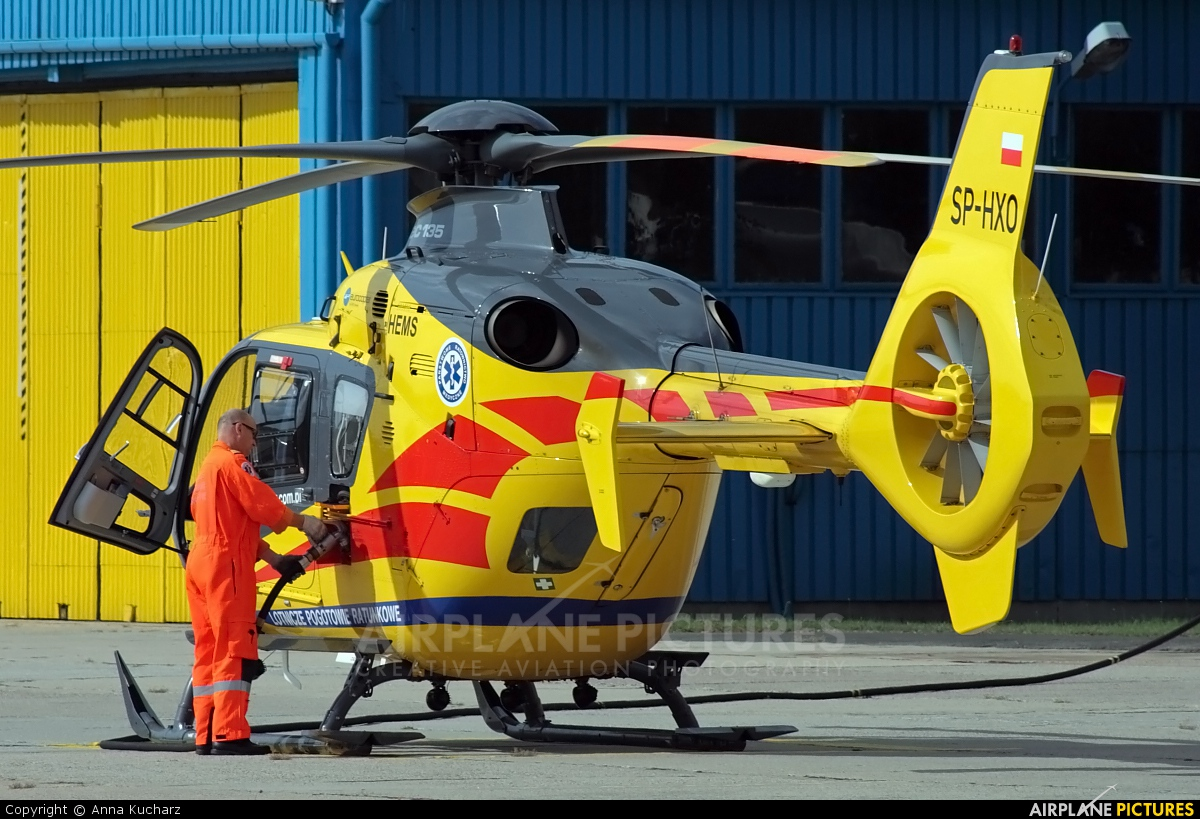 Polish Medical Air Rescue - Lotnicze Pogotowie Ratunkowe SP-HXO aircraft at Warsaw - Babice