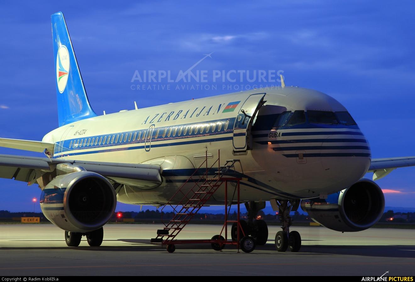 Azerbaijan Airlines 4K-AZ04 aircraft at Ostrava Mošnov