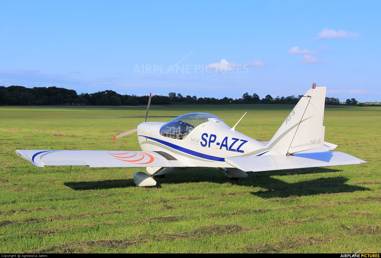 Aeroklub Ziemi Zamojskiej SP-AZZ aircraft at Płock