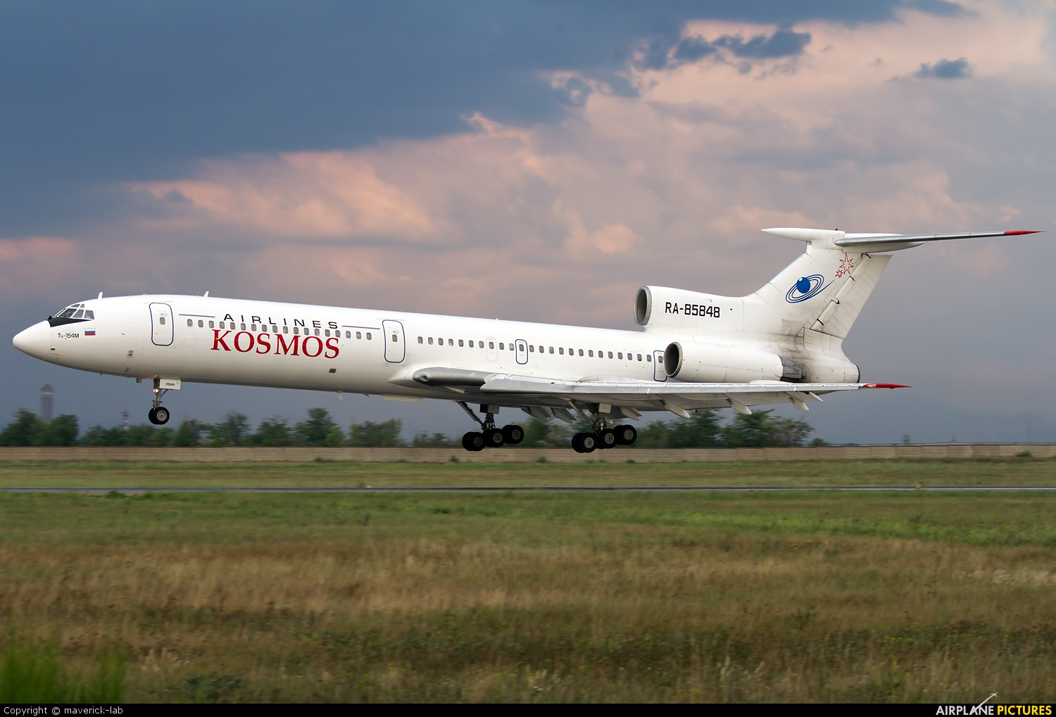 Kosmos Airlines RA-85848 aircraft at Simferopol International Airport (under Russian occupation)