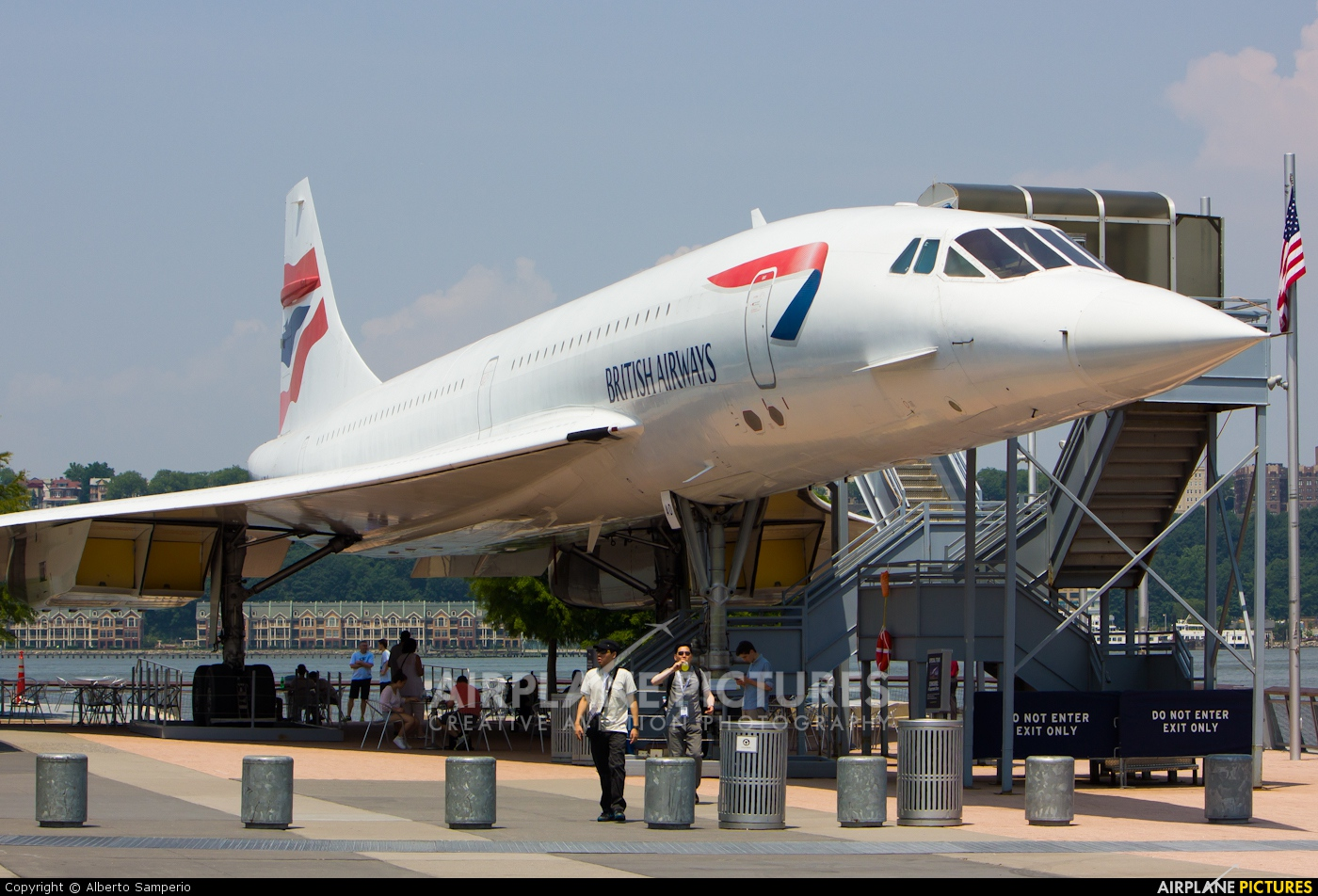British Airways G-BOAD aircraft at New York - Intrepid Sea Air Museum