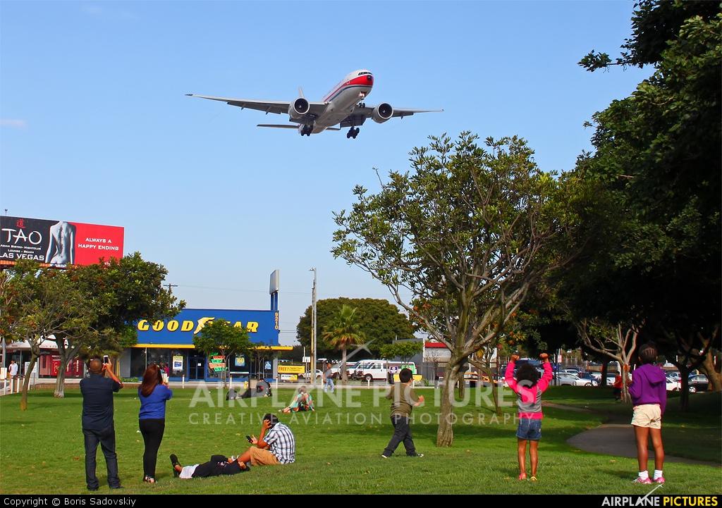 China Cargo B-2077 aircraft at Los Angeles Intl