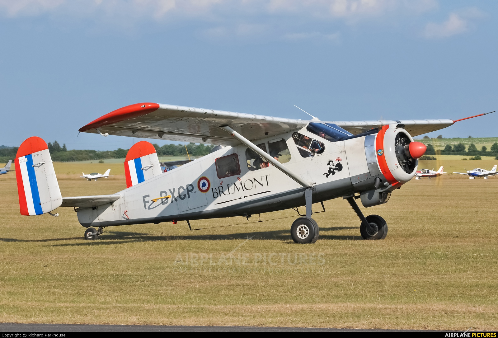 Private F-BXCP aircraft at Duxford
