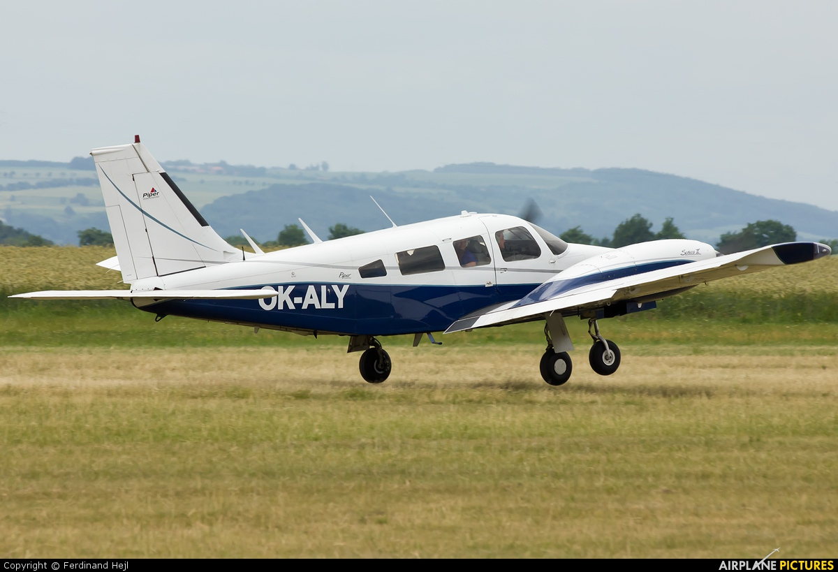 Private OK-ALY aircraft at Roudnice nad Labem
