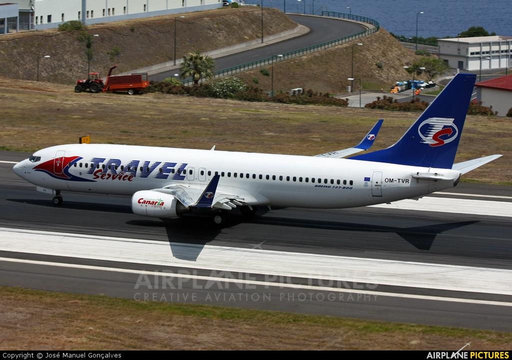 Travel Service OM-TVR aircraft at Madeira