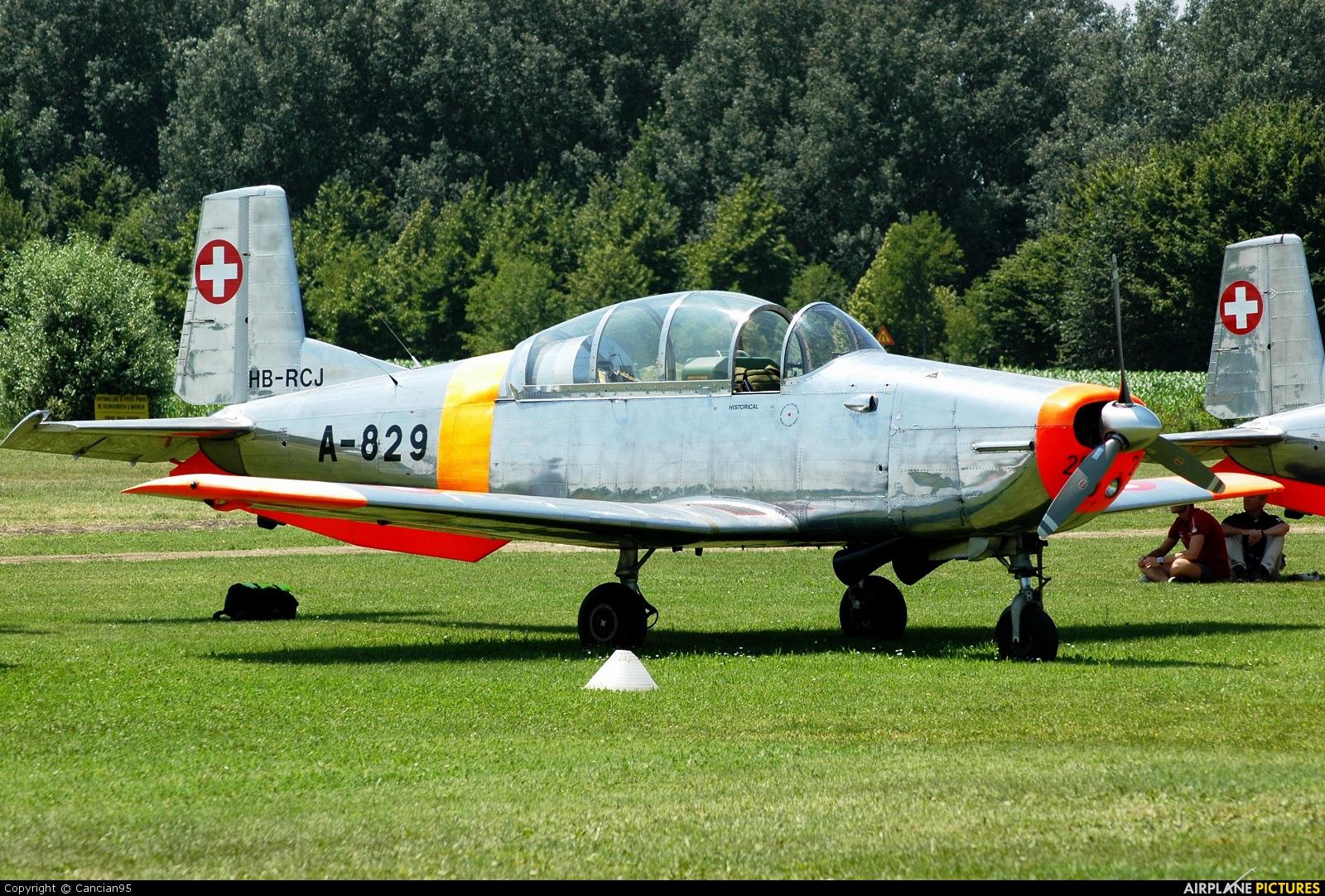 Private HB-RCJ aircraft at Montagnana