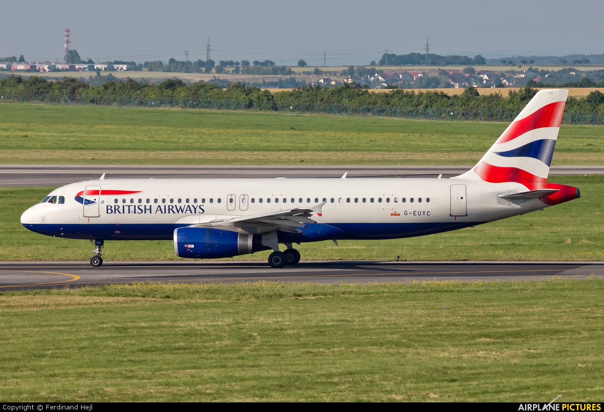 British Airways G-EUYC aircraft at Prague - Václav Havel