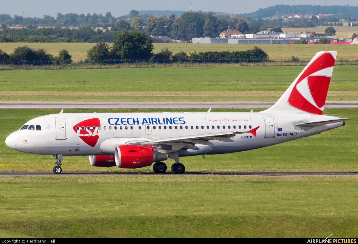 CSA - Czech Airlines OK-NEO aircraft at Prague - Václav Havel