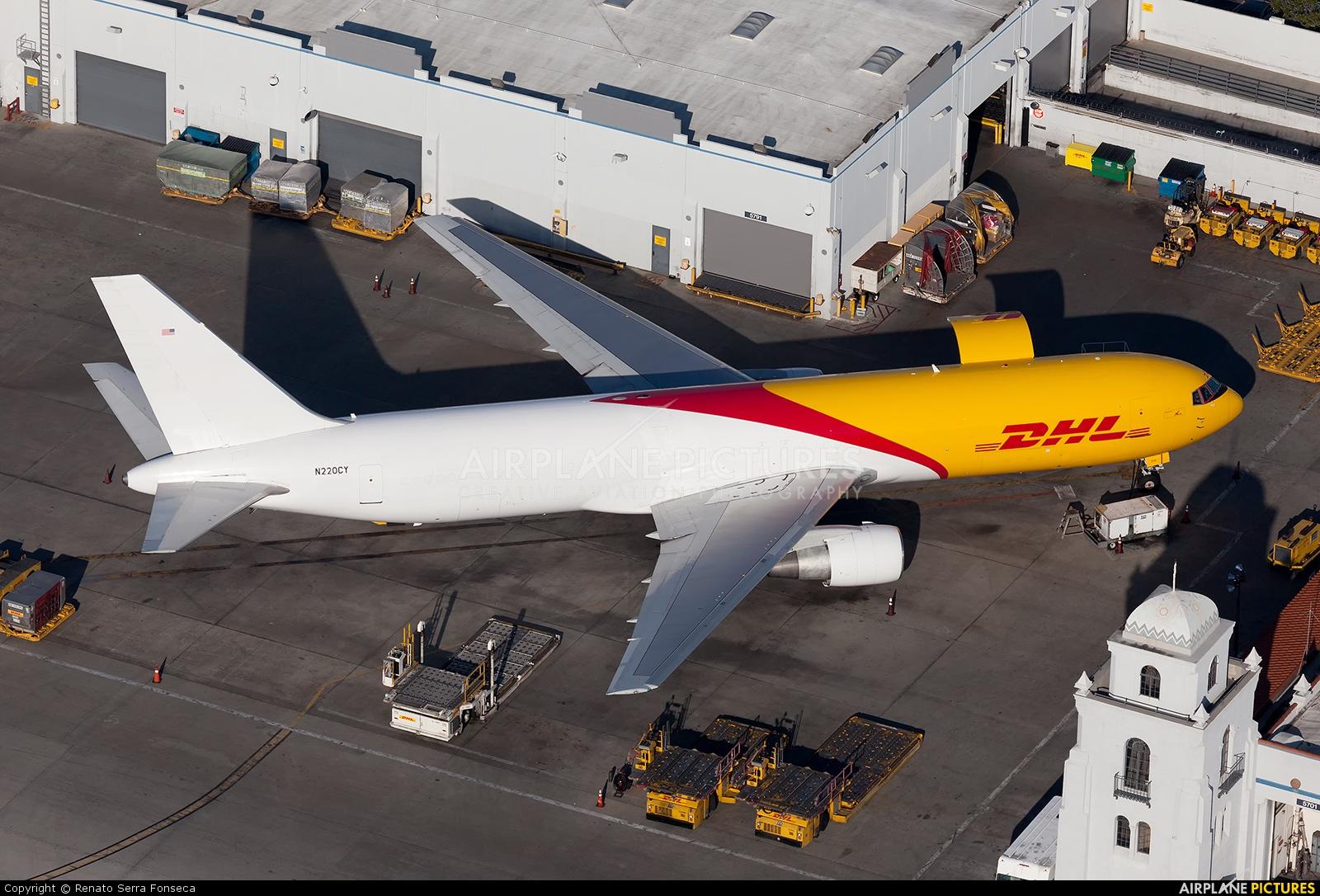 N220CY - DHL Cargo Boeing 767-300F at Los Angeles Intl