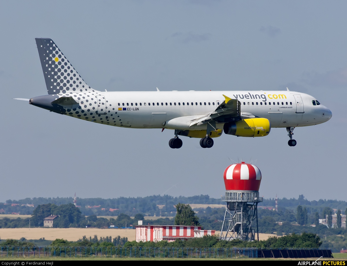 Vueling Airlines EC-LQN aircraft at Prague - Václav Havel