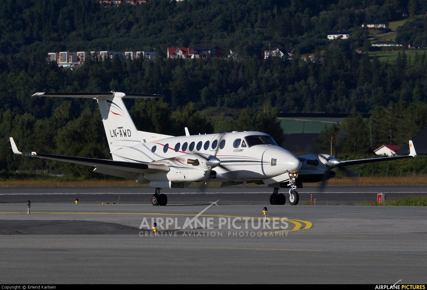 Airwing LN-AWD aircraft at Trondheim - Vaernes