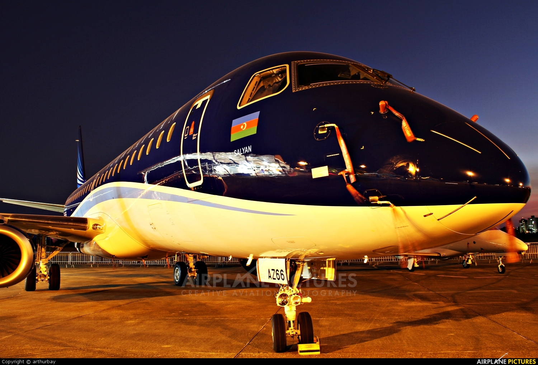 Azerbaijan Airlines PR-EAF aircraft at São José dos Campos, SP