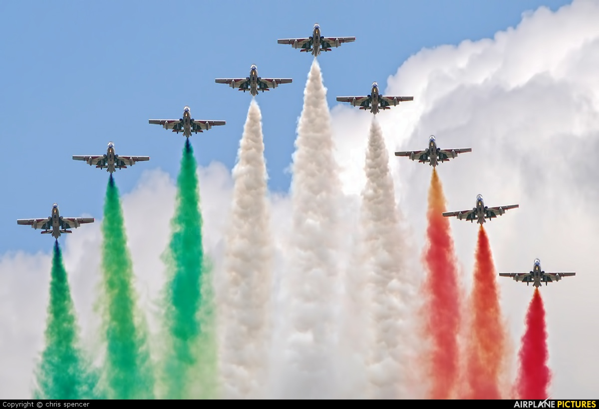"Italy - Air Force ""Frecce Tricolori"" - aircraft at Fairford"