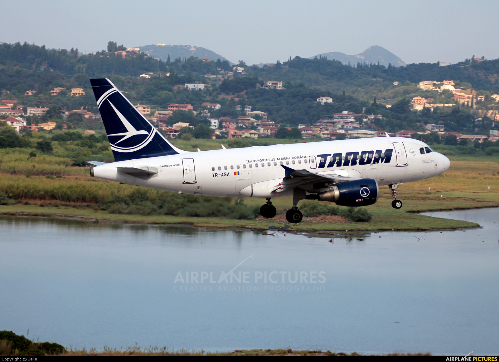 Tarom YR-ASA aircraft at Corfu - Ioannis Kapodistrias