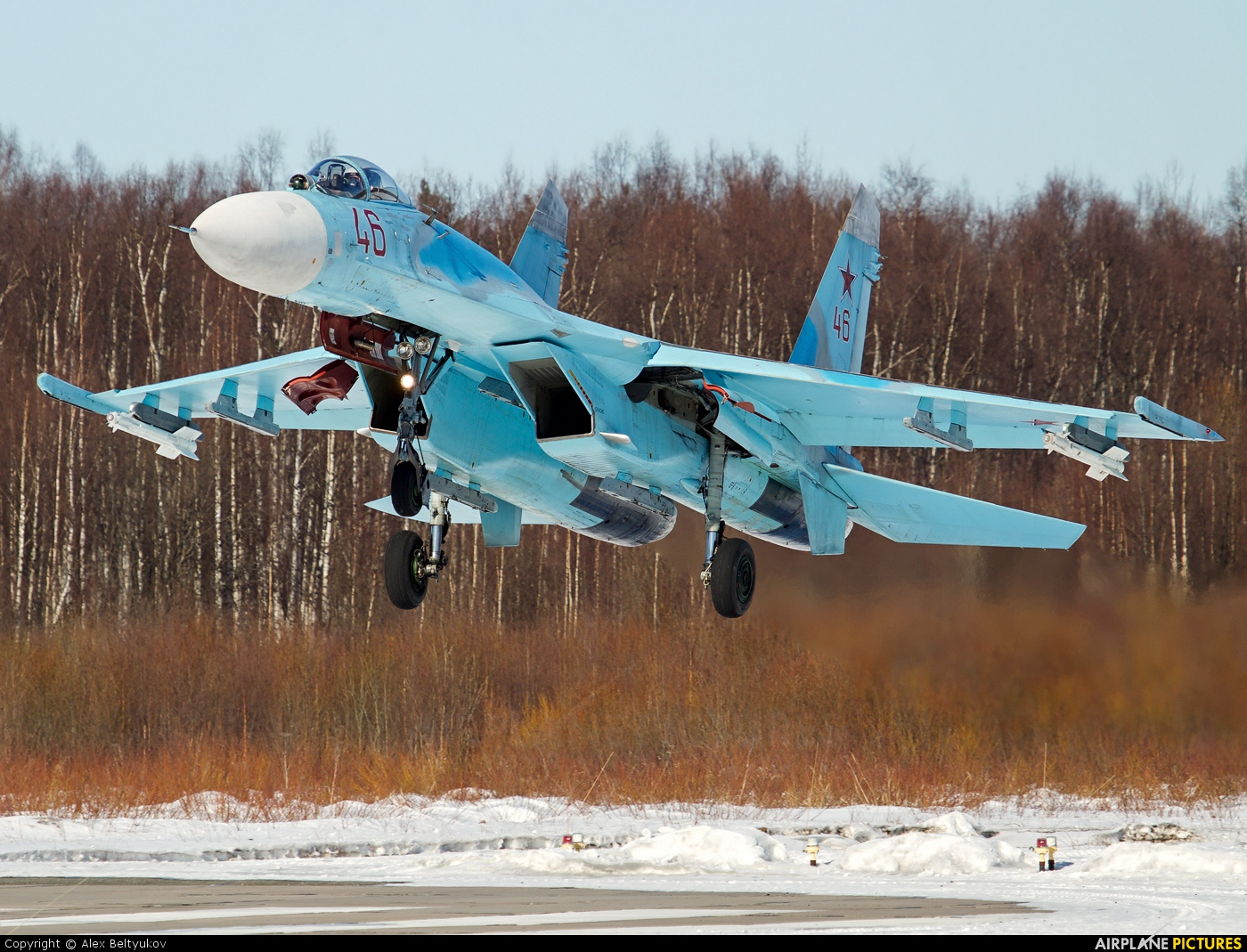 Russia - Air Force 46 aircraft at Petrozavodsk