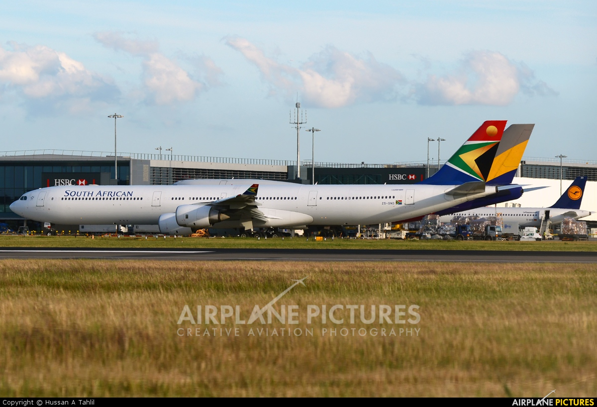 South African Airways ZS-SND aircraft at London - Heathrow